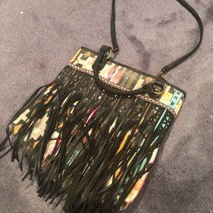 Southwestern Fringe Crossbody Bag